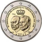 Luxemburgo 2€ 50º Anos da Ascensão ao Trono 2014