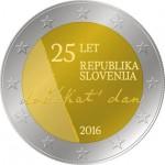 Eslovénia 2€ 25º Aniversário da Independência 2016