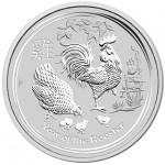 Austrália 1 Dollar Ano do Galo 2017 - Onça em Prata