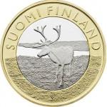 Finlândia 5€ Animais de Lapland 2015
