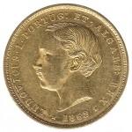 D.Luís I 5000 Réis (1/2 Coroa) de 1862