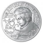 Áustria 10€  Génio Mozart - A Lenda proof 2016