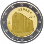 Espanha 2€ Igreja das Astúrias - Oviedo 2017