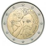 França 2€ Auguste Rodin 2017