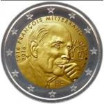 França 2€ Francois Mitterrand 2016