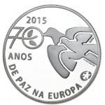 Portugal 2,50€ 70 Anos de Paz na Europa Prata Proof Disponível 12/3/15
