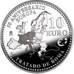 Espanha 10€ 50º Aniv. Tratado de Roma 2007