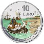 Espanha 10€ 500 Anos Volta ao Mundo 2021 Prata Proof