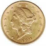 USA 20 Dollars Liberty ouro