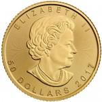 Canada 50 Dólares 2017 1oz. Ouro