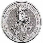 Inglaterra 5 Pounds 2 oz. Prata Queen's Beats Cavalo Branco de Hanover 2020