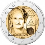 Italia 2€ Maria Montessori 2020