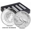 Caixa de 100 moedas Austrália 1 Dollar Kookaburra 2022 1oz. Prata