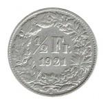Suiça 1/2 Franco de 1921