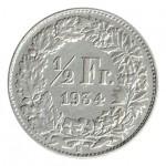 Suiça 1/2 Franco de 1934