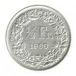 Suiça 1/2 Franco de 1960