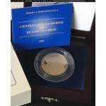 Moeda de 500$00 em prata e ouro alusiva à Eça de Queiroz
