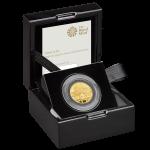 UK Elton John 2020 1/4 Onça (25 Pounds) Ouro Proof  (Esgotado na Royal Mitnt)