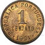 Portugal 1 Centavo 1921