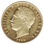 D. Luís 10.000 Réis (1/2 Coroa) de 1880