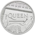 Inglaterra 2 Pounds Queen British Music Legends 1 oz. prata 2020