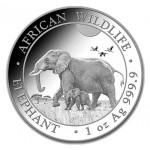 Somália 100 Shilling Elefante 2022 1oz. Prata