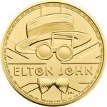 UK Elton John 2020 1 Onça (100 Pounds) Ouro BU (esgotado na Royal Mitnt)