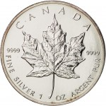 Canadá 5 Dollars Maple Leaf 1993