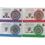 Vaticano 4x 50 Cêntimos Coincard c/ Selos 2019