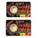 2x Bélgica 2,5€ Diabos Vermelhos - Mundial 2018 - Coincard Holandês + Francês