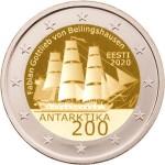Estónia 2€ 200 Anos da 1ª Expedição á Antártida 2020