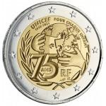 França 2€ 75 anos da Unicef 2021