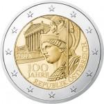 Áustria 2€ 100 Ano da República Austriaca 2018