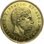 D. Pedro V 5000 Réis (1/2 Coroa) de 1861