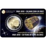 Bélgica 2€ 50 Anos Satélite Iris 2018