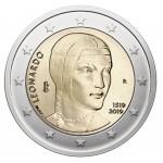 Itália 2€ Leonardo Da Vinci 2019