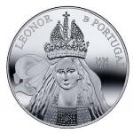 Portugal 5€ Rainha D. Leonor Prata Proof 2014