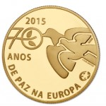 Portugal 2,50€ 70 Anos Paz na Europa Ouro Proof 2015