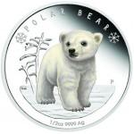 Tuvalu 50 Cents Urso Polar 2017