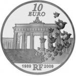 França 10€ Queda do Muro de Berlim 2009