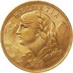 Suiça 20 Francos  Ouro
