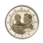 Luxemburgo 2€ 100 Anos Nascimento Grão-Duque Jean 2021 (versão holograma)