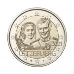 Luxemburgo 2€ 40º Aniversário Casamento Theresa e Henry 2021